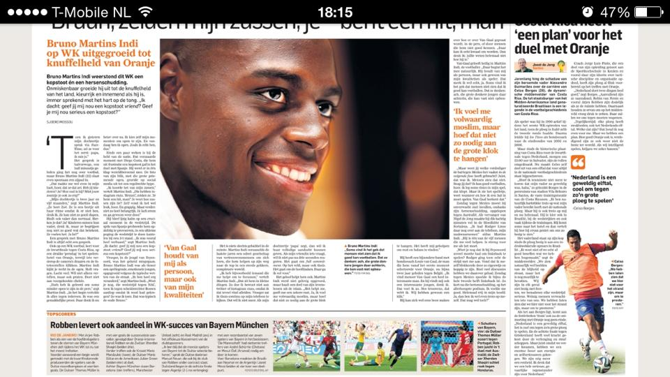 Bruno Martins Indi is moslim